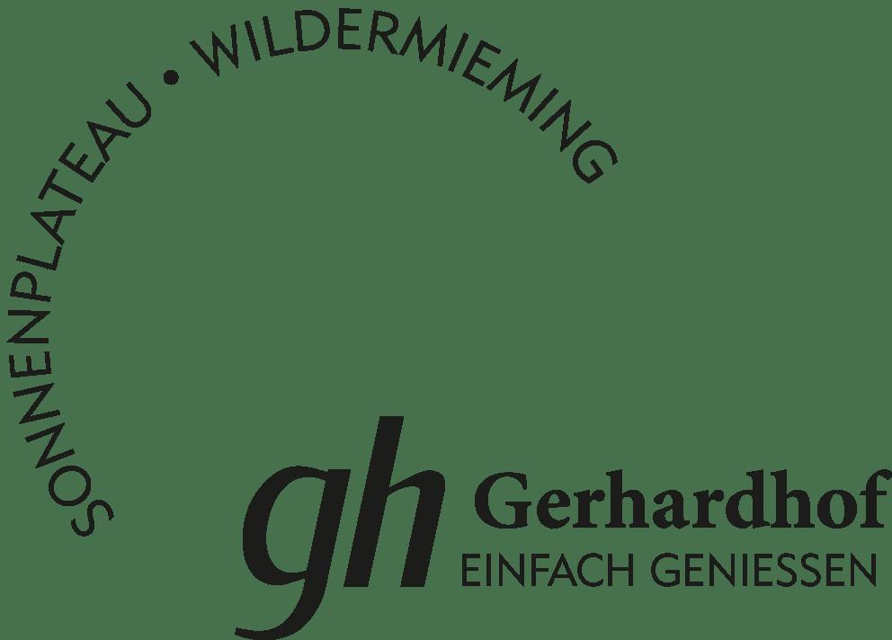 Gerhardhof Einfach geniessen - Logo Presse schwarz - Sonnenplateau Camping Gerhardhof GmbH - gerhardhof.com