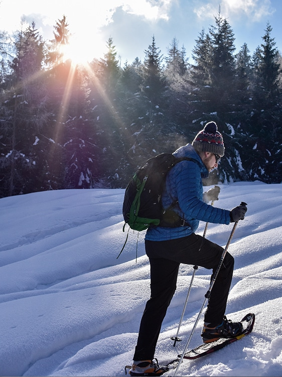 Winter- Schneeschuhwandern - Sonnenplateau Camping Gerhardhof GmbH - gerhardhof.com